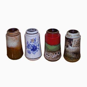 Vintage Modell 549-21 Vasen von Scheurich, 4er Set