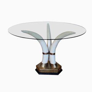 Spanish Brass Center Table, 1970s
