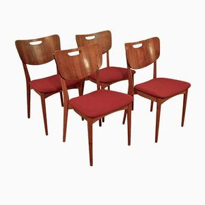 Oak and Teak Danish Dining Chairs, 1960s, Set of 4