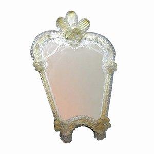 Italian Murano Glass Standing Mirror, 1950s
