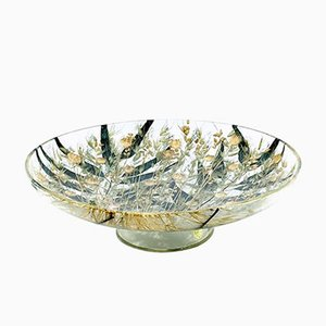 Vintage Plexiglass Bowl with Wheat Inclusions, 1960s