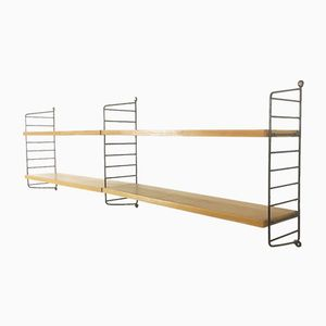 Ash Wall Unit by Nisse Strinning for String Design AB, 1960s