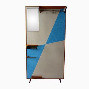 Vintage Garderobe mit Blauen Geometrischen Mustern, 1960er