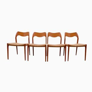 Vintage Model 71 Dining Chairs by Niels O. Møllers for J.L. Møllers, Set of 4