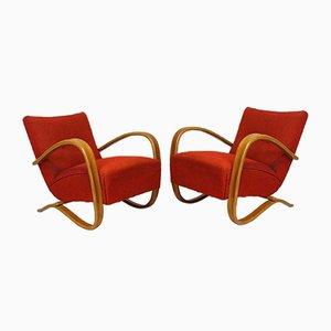 Vintage H-269 Art Deco Sessel von Jindrich Halabala für Thonet, 2er Set