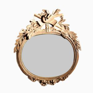 Miroir Antique Néoclassique en Argent à Dorures, France