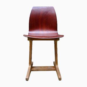 Mid-Century Holz & Pagholz Stühle von ASS Schulmöbel, 4er Set