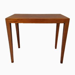 Vintage Rosewood Side Table by Severin Hansen for Haslev Mobelfabrik