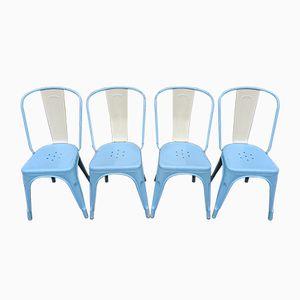 Vintage Model A Stühle von Xavier Pauchaird für Tolix, 4er Set