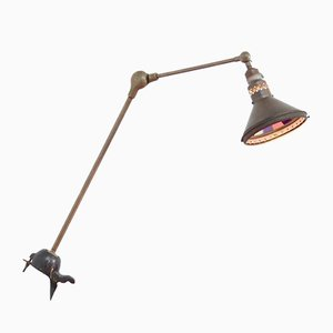 Hand-Made Industrial Desk Lamp, 1920s
