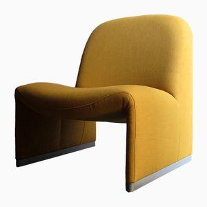 Easy Chair Mid-Century Jaune Pop