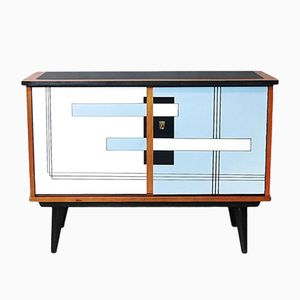 German Modern Commode with Geometric Pattern, 1960s