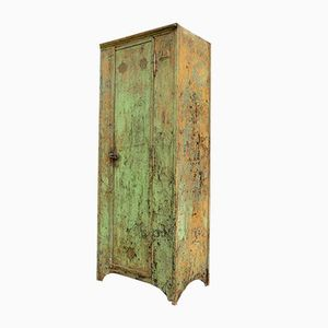 Vintage Riveted Industrial Metal Locker