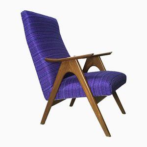 Vintage Purple Easy Chair by Louis van Teeffelen for Webe