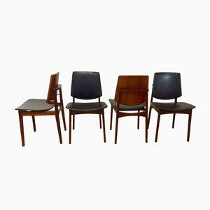 Teak Chairs by Arne Hovmand Olsen, 1960, Set of 4