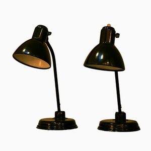 Lampes Bahaus par Christian Dell pour Kaiser Idell, 1939, Set de 2