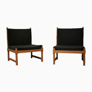Lounge Chairs by Børge Mogensen for Fritz Hansen, 1970s, Set of 2