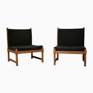 Lounge Stühle von Børge Mogensen für Fritz Hansen, 1970er, 2er Set