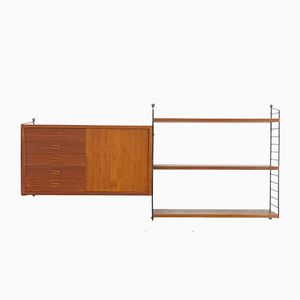 Mid-Century No.2 Shelf by Nisse and Katja Strinning for String, 1960s