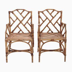 Stühle aus Rattan, 1970er, 2er Set