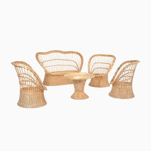 Wicker Garden Set, 1960s