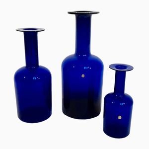 Floor Vases by Otto Brauer for Kastrup Holmegaard, 1959, Set of 3