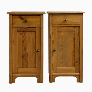 Softwood Night Stands, 1910s, Set of 2