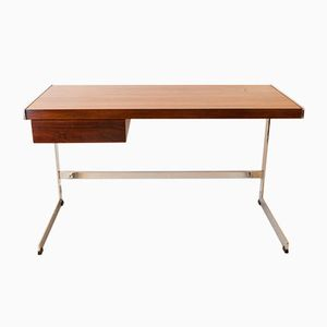 Rosewood and Chrome Desk by David Folker for Merrow Associates, 1970s