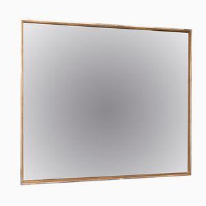 Grand Miroir en Verre Fumé avec Cadre en Chrome et en Laiton, Italie
