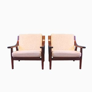 Vintage GE530 Oak Chairs by Hans J. Wegner for Getama, Set of 2
