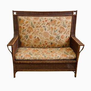 Art Nouveau 2-Seater Rattan Sofa, 1910s