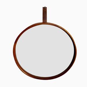 Swedish Teak Wall Mirror by Uno & Östen Kristiansson for Luxus, 1965