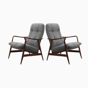 Vintage Danish Lounge Chairs by Alf Svensson, Set of 2