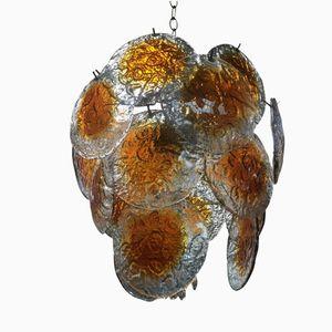 Glass Chandelier from Mazzega, 1960s