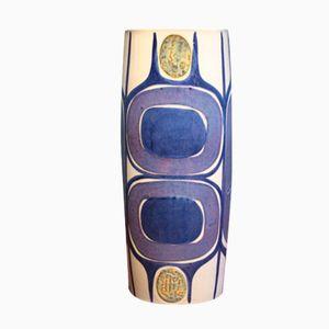 Vase par Inge-Lise Koefoed pour Aluminia, Danemark, 1960s