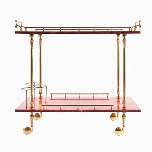 Bar Cart by Aldo Tura, 1970s
