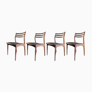 Vintage Dining Chairs by Eriksen Verstervig for Brdr Tromborg, Set of 4