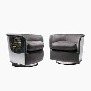 Mid-Century Tub Chairs by Milo Baughman for Thayer Coggin, Set of 2