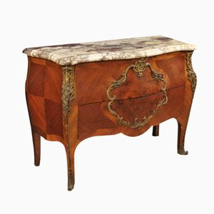 French Rosewood Dresser with Marble Top, 1920s