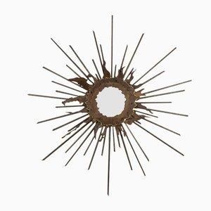 Brutalistischer Spiegel mit Rahmen in Sonnen Optik von Laure Baudet, 1990