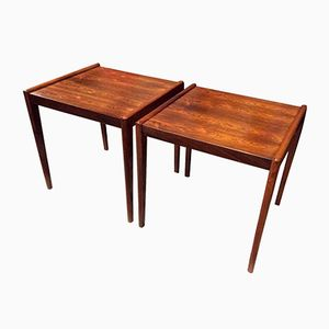 Scandinavian Rosewood Side Tables, 1960s, Set of 2