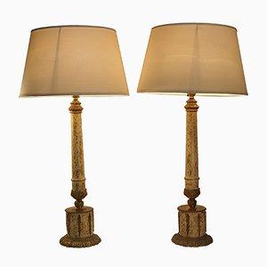 Lampes de Tables Néoclassiques en Bronze, Set de 2