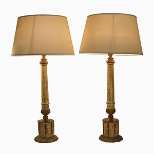 Neo Classical Bronze Table Lamps, Set of 2