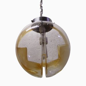 Smoked Glass Pendant by Toni Zuccheri for Venini, 1960s
