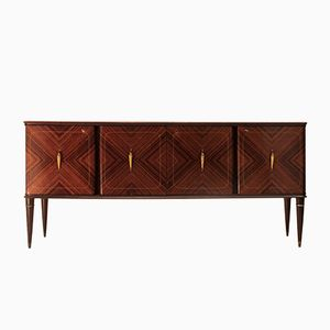Italian Rosewood Veneer Credenza from Cicchetti, 1950s