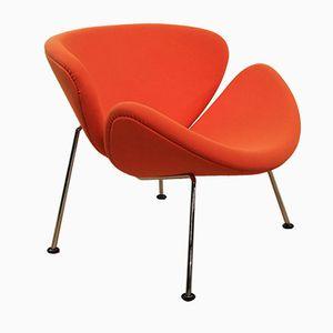 Orange Slice F437 Armlehnstuhl von Pierre Paulin für Artifort, 1970er