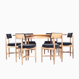 Table de Salon à Rallonge avec Six Chaises Assorties de G-Plan, 1960s