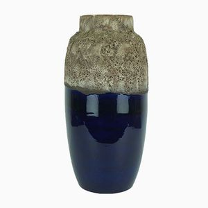 Dark-Blue & Gray Fat Lava Vase from Scheurich