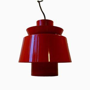 Red Tivoli Pendant Lamp by Jørn Utzon for Nordisk Solar, 1960s