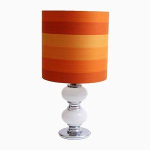 Orangefarbene Vintage Stehlampe mit Beleuchtetem Gestell